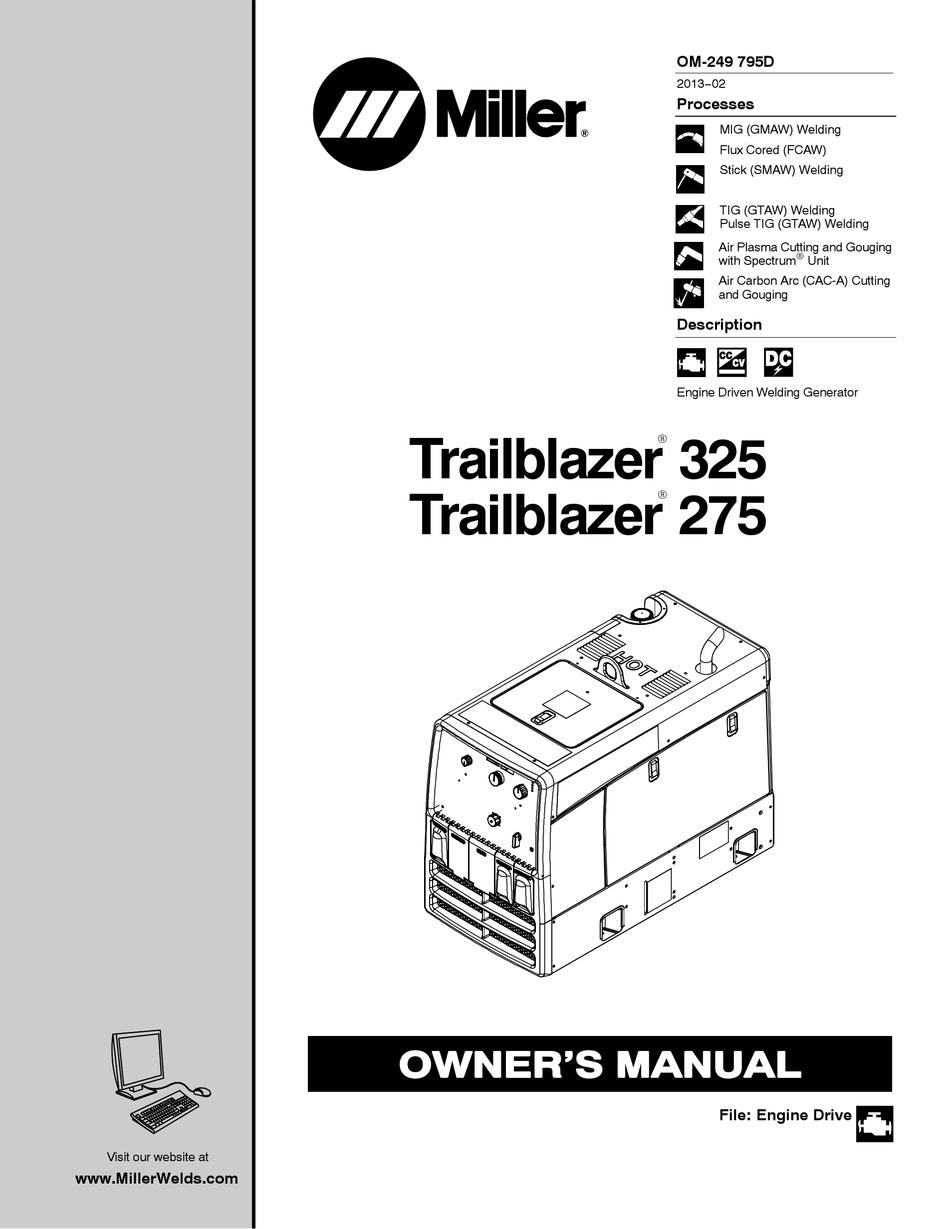 Miller Trailblazer 325 Owner S Manual Pdf Download Manualslib