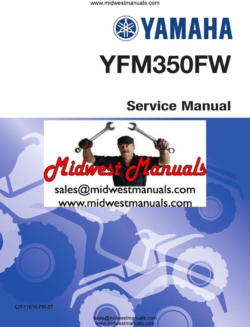 Yamaha Yfm350fw Service Manual Pdf Download Manualslib