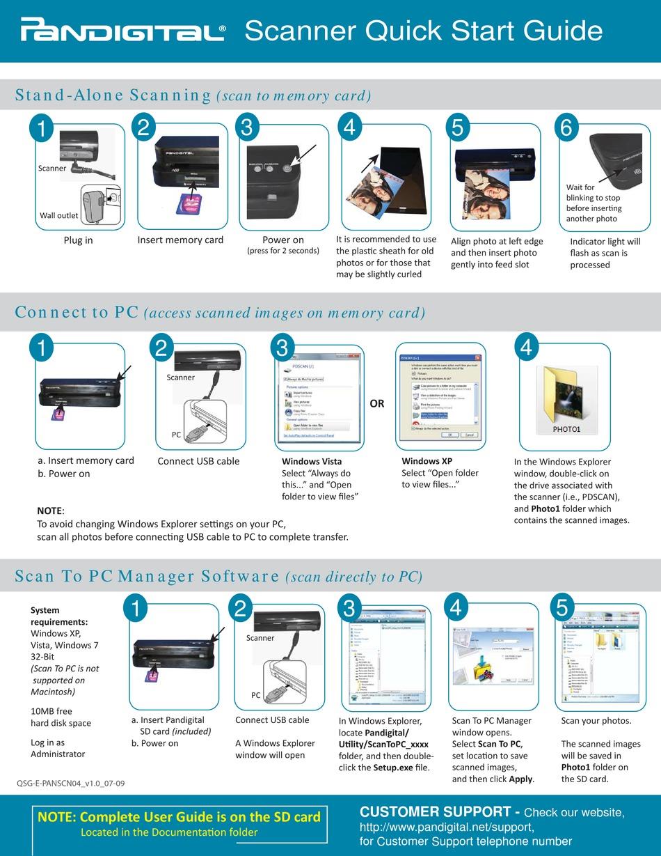Pandigital slide and negative scanner driver download software
