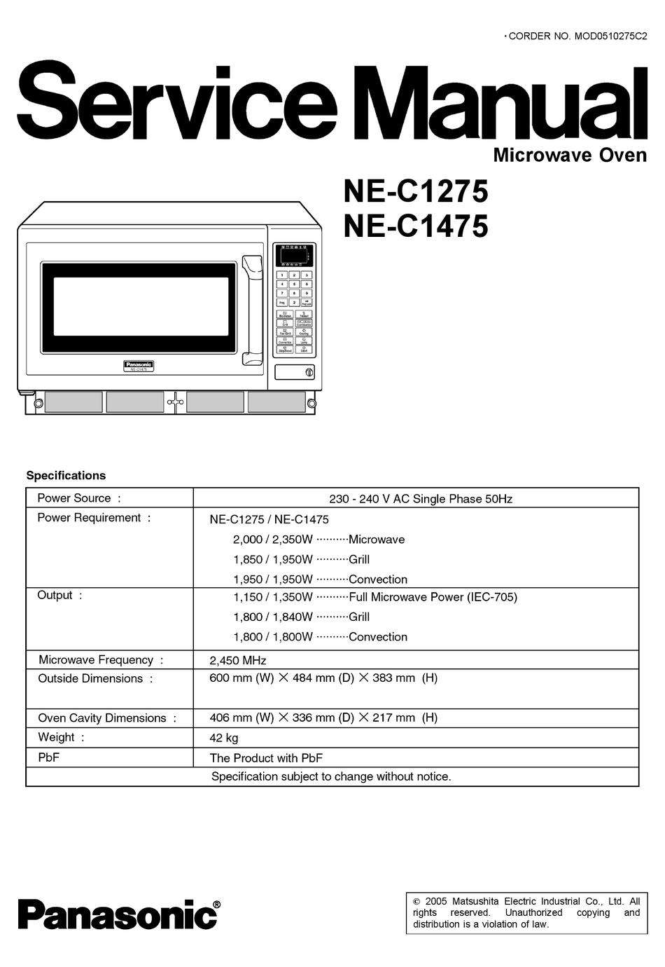 Panasonic Ne C1275 Service Manual Pdf