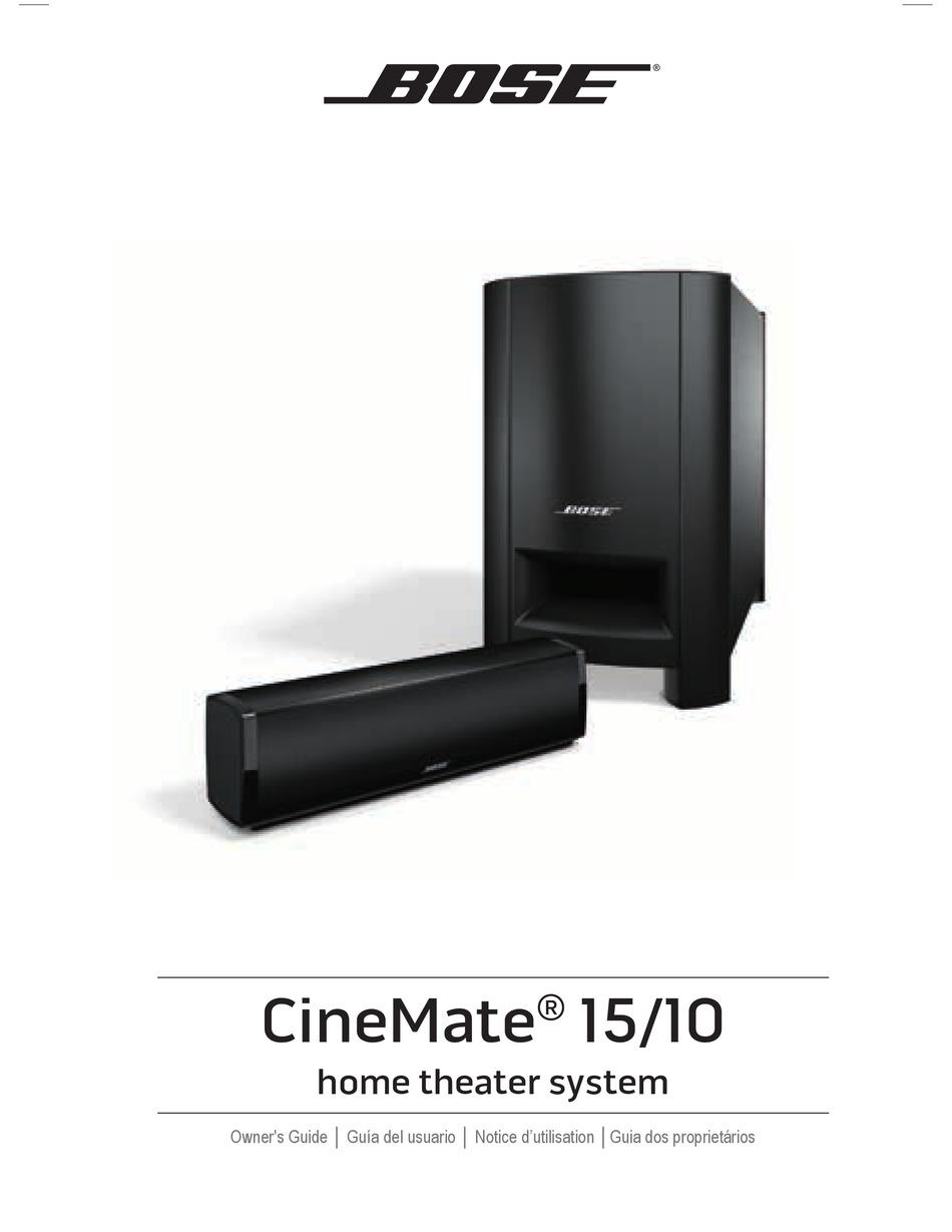 BOSE CINEMATE 15 OWNER'S MANUAL Pdf Download