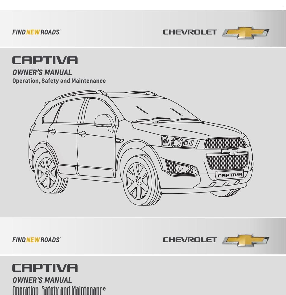 Chevrolet Captiva Owner S Manual Pdf Download Manualslib
