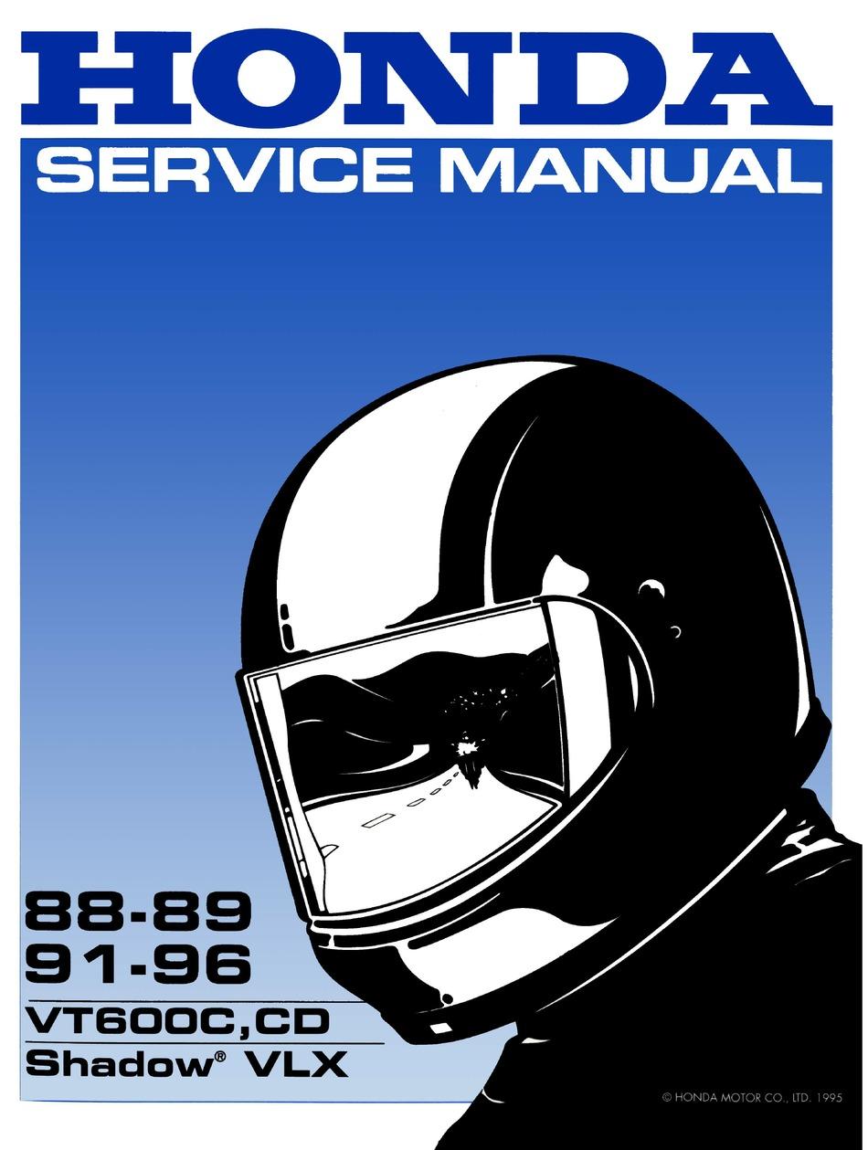 Honda Vt600c Shadow Vlx Service Manual Pdf Download Manualslib