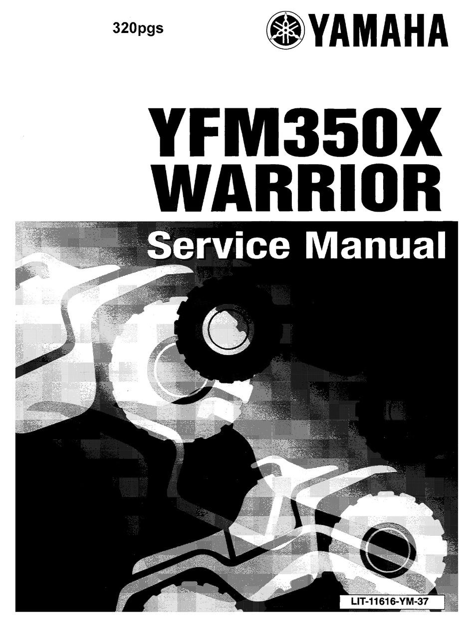 Yamaha Yfm350x Warrior Service Manual Pdf Download Manualslib