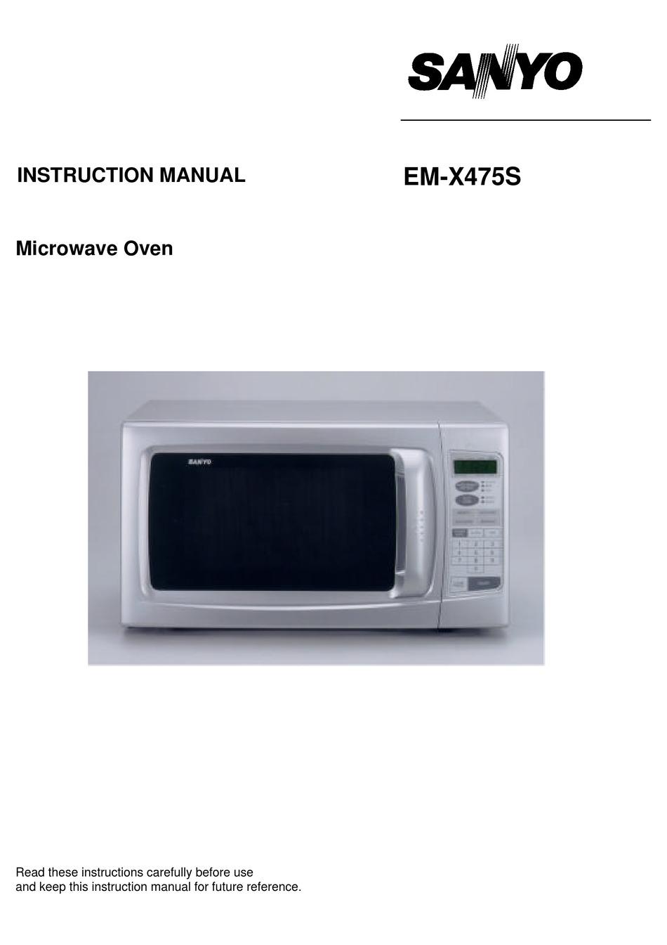 Sanyo Em X475s Instruction Manual Pdf
