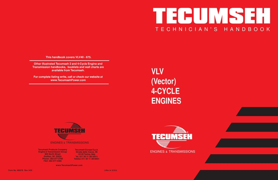 Tecumseh Vlv Technician S Handbook Pdf Download Manualslib