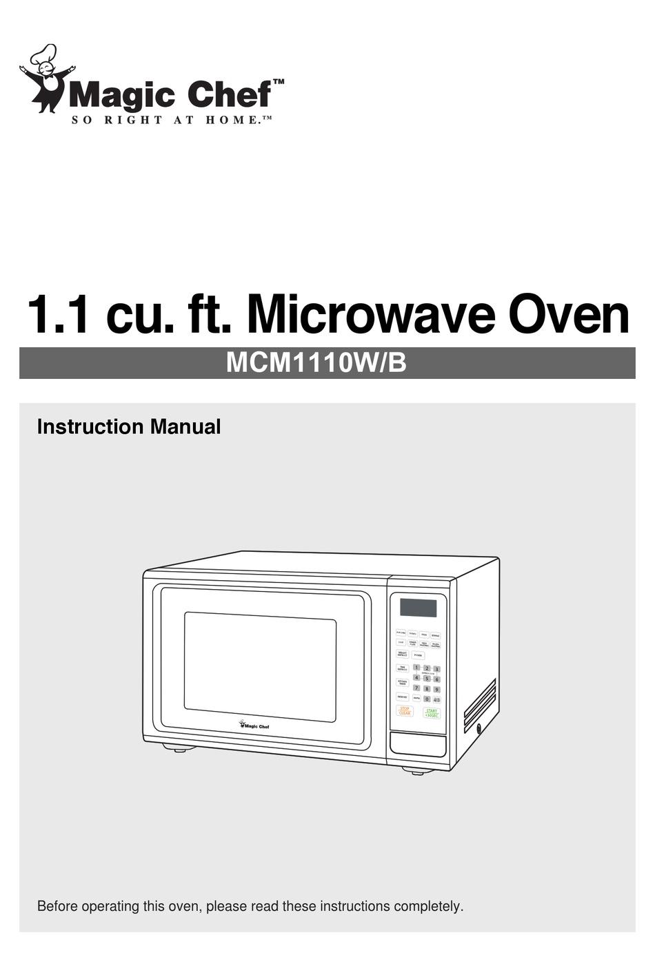Magic Chef Mcm1110w B Instruction