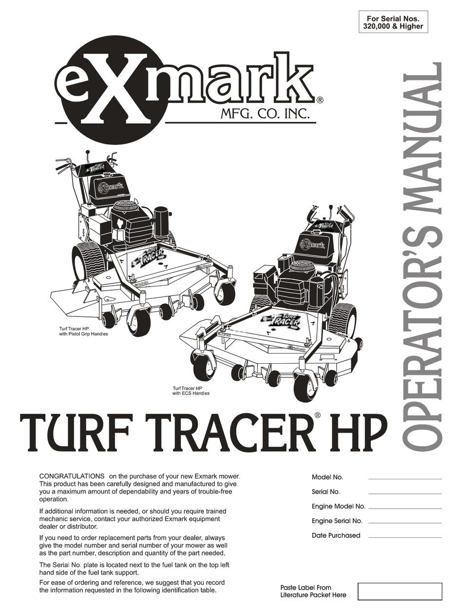 Exmark Turf Tracer Wiring Diagram from data2.manualslib.com