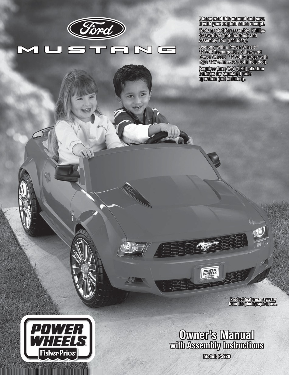 Fisher Price Ford Mustang P5920 Owner S Manual Assembly Instructions Pdf Download Manualslib