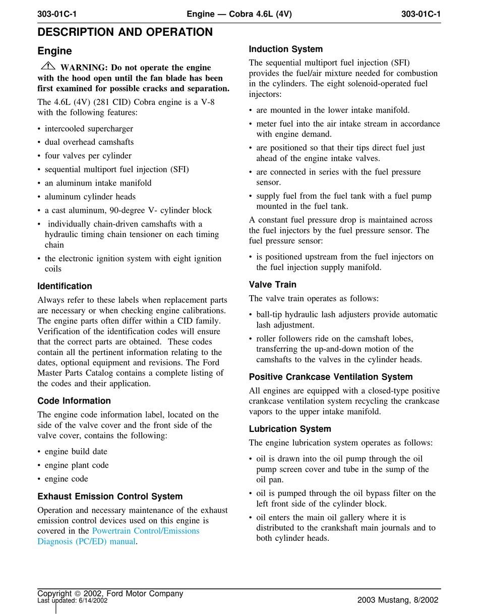 Ford Cobra 4 6l 4v Manual Pdf Download Manualslib