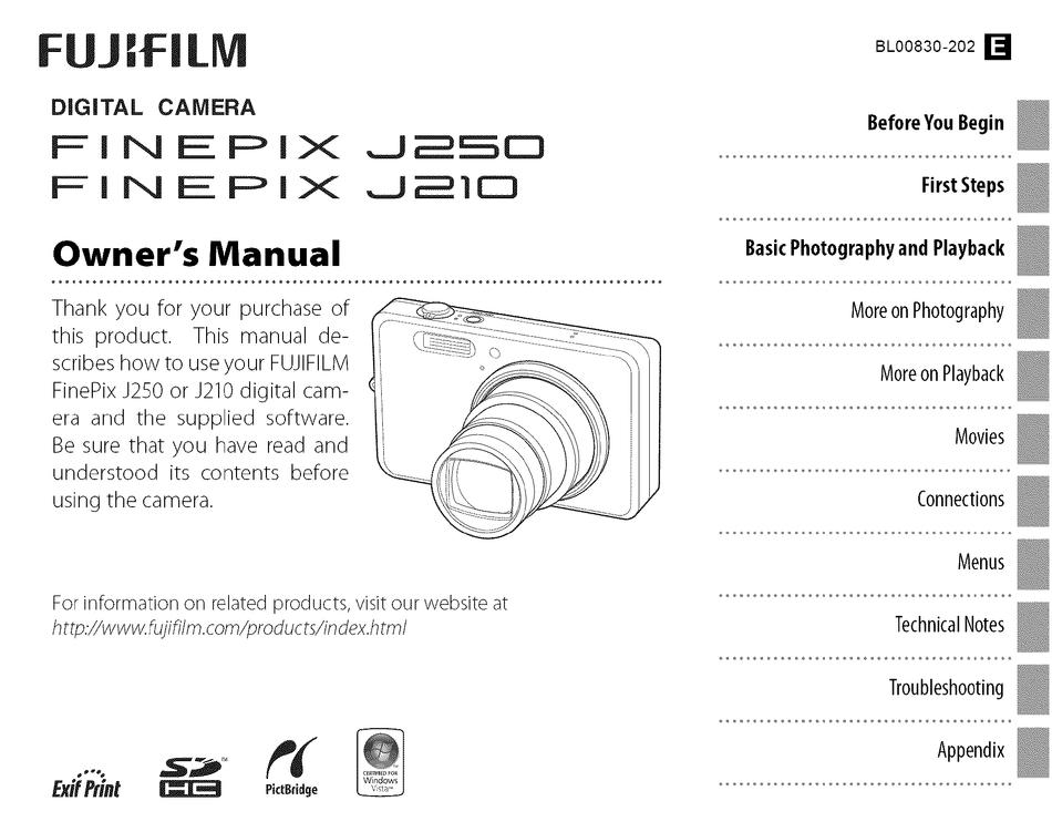 fujifilm finepix jv 90 manual
