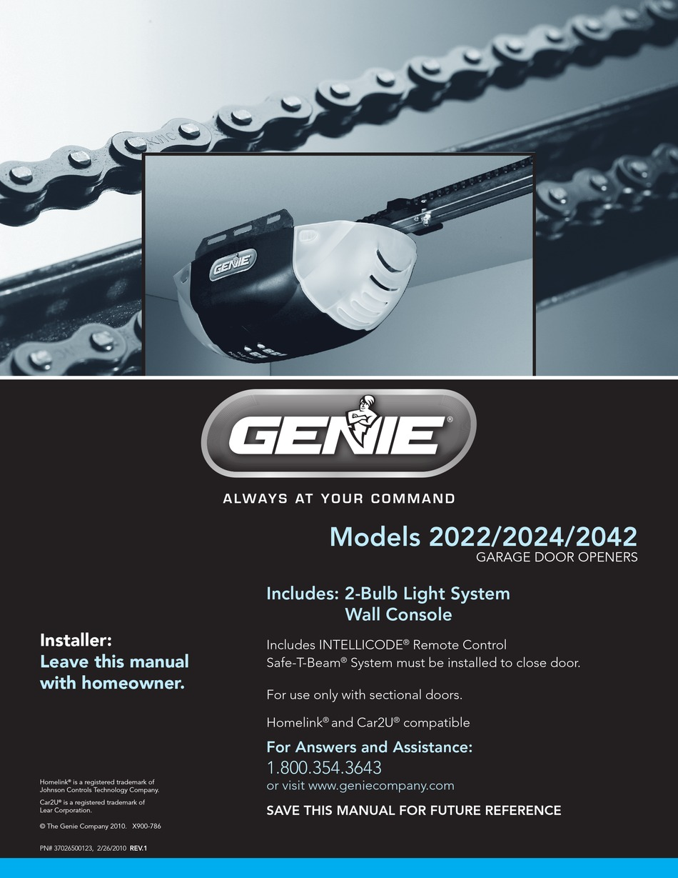 Genie 2024 User Manual Pdf Download Manualslib