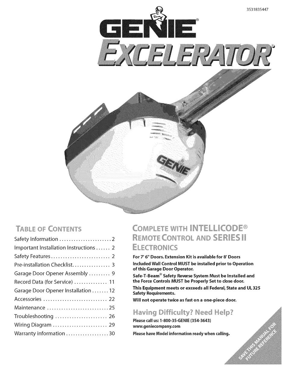 Genie Excelerator 3531835447 User