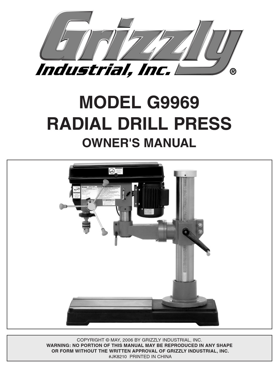 Grizzly G9969 Radial Drill Press