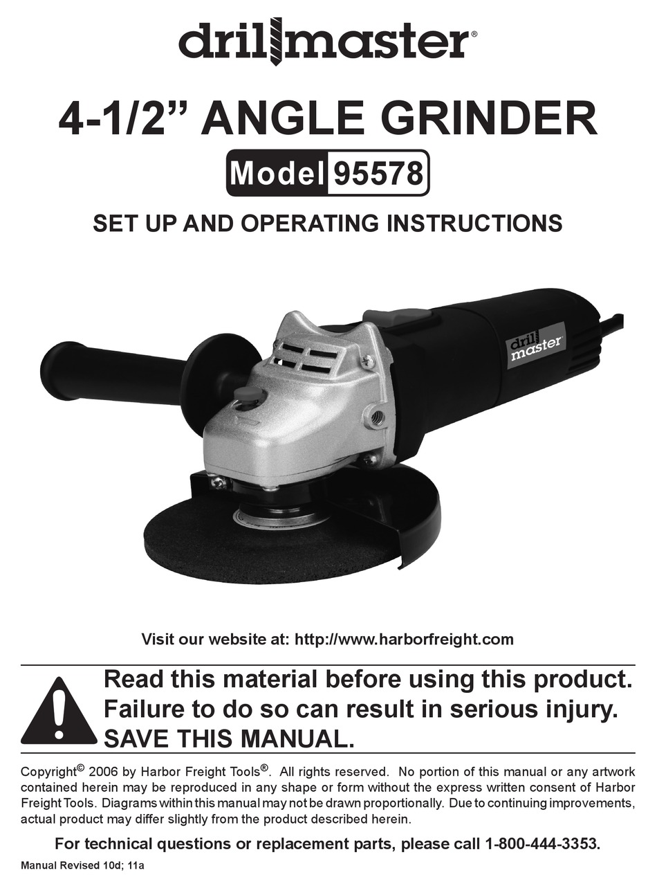 DRILL MASTER 95578 SET UP AND OPERATING INSTRUCTIONS MANUAL Pdf Download |  ManualsLibManualsLib