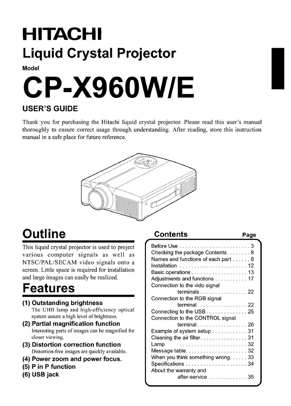 Remote Control for Hitachi CP-X958W/E Projector with Laser Pointer ...