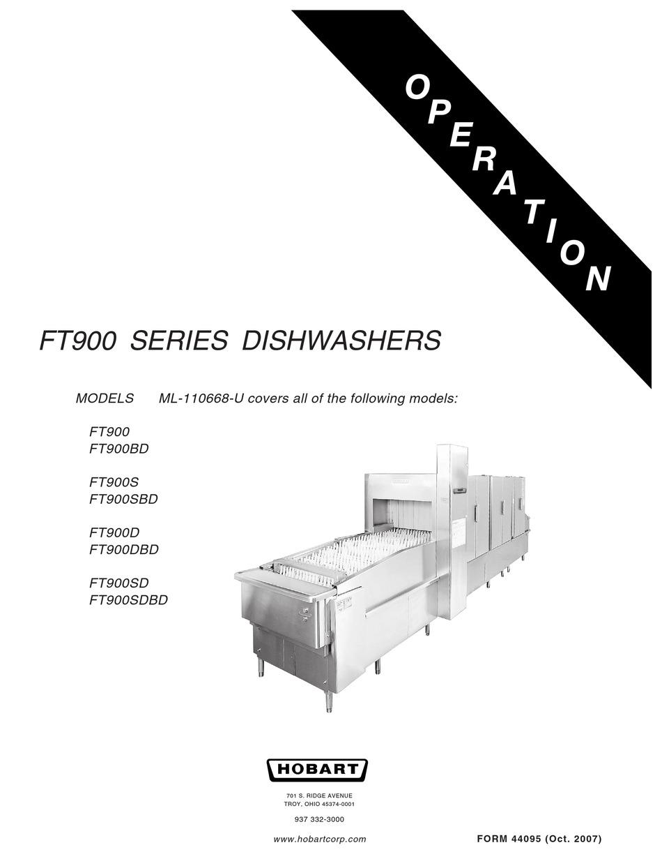 HOBART FT900 OPERATION MANUAL Pdf Download | ManualsLib | Hobart Dishwasher Wiring Diagram Ft 900 |  | ManualsLib