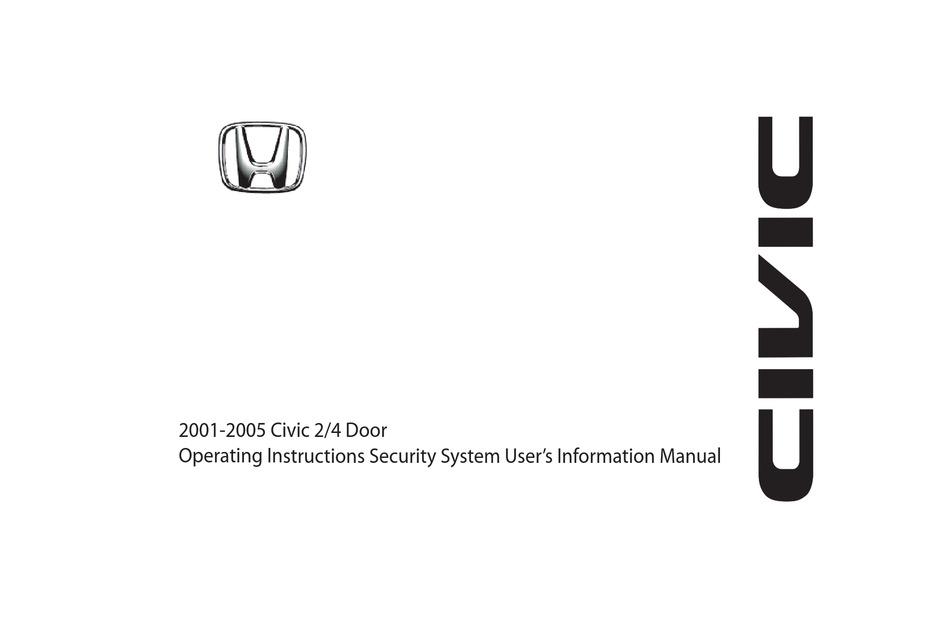 honda civic 2/4 door 2001-2005 operating instructions manual pdf download |  manualslib  manualslib