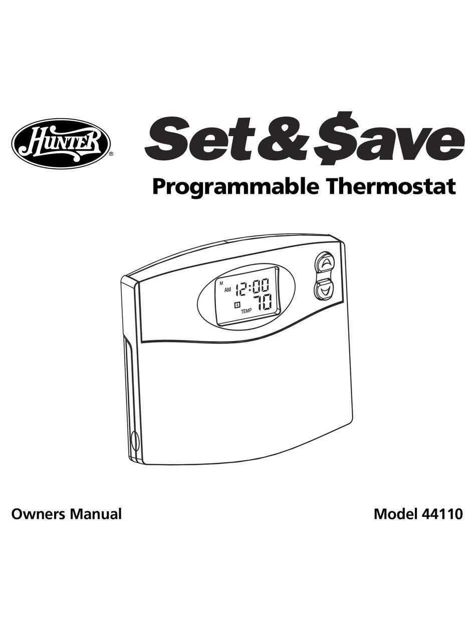 Hunter Thermostat 44155C Wiring Diagram from data2.manualslib.com