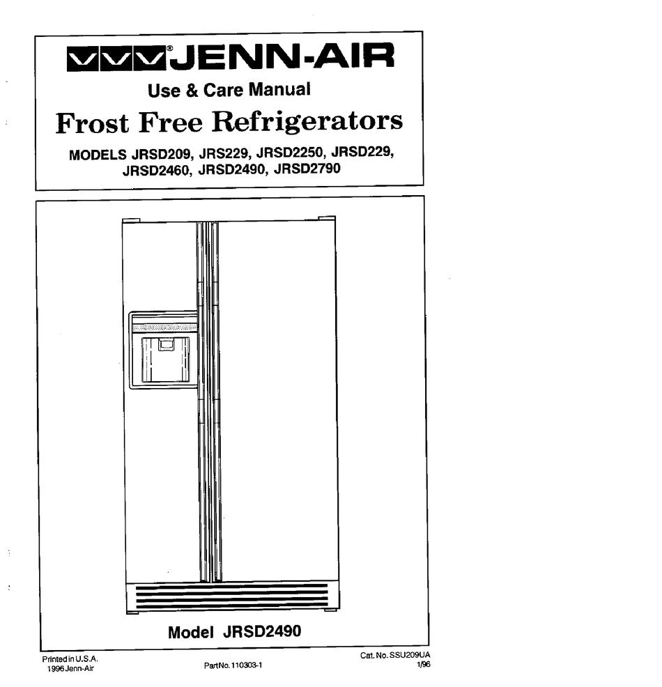 Jenn Air Jrsd2490 Use And Care Manual