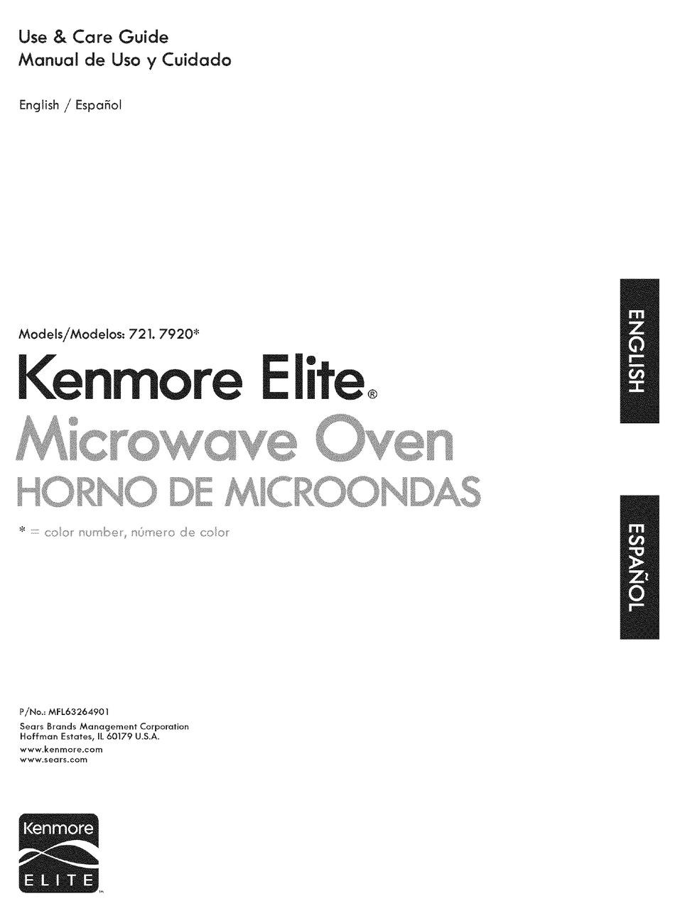 Kenmore Elite 721 7920 Use And Care Manual Pdf Download Manualslib