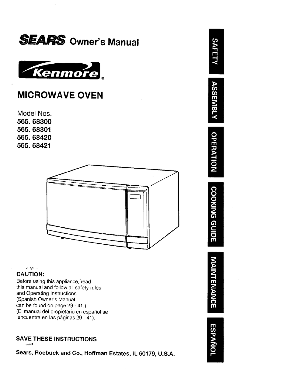 Kenmore 565 683 Owner S Manual Pdf