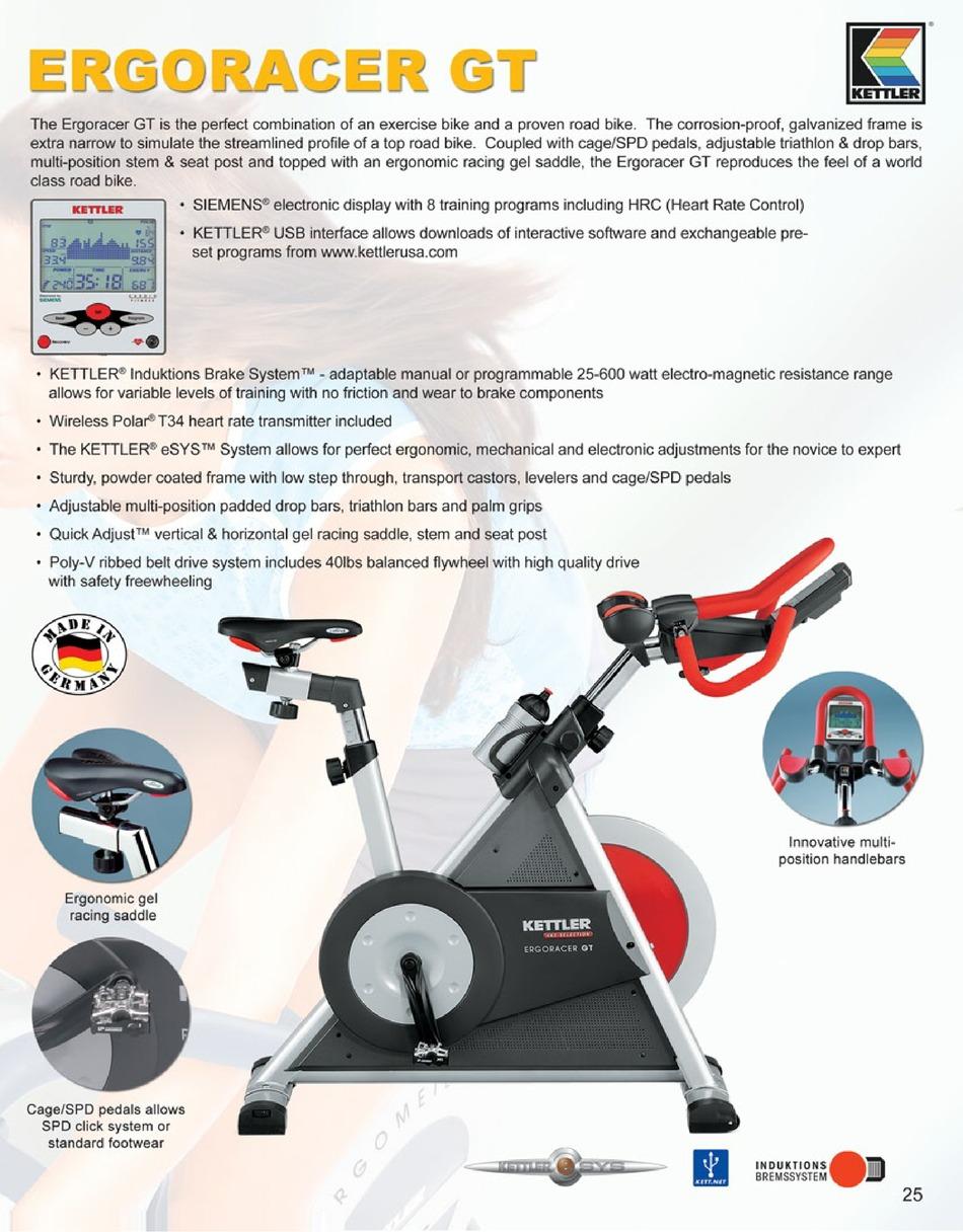 Kettler ergoracer Ergometer GT 07988-500 Fitness Bike bulktex ® Strap 67005129