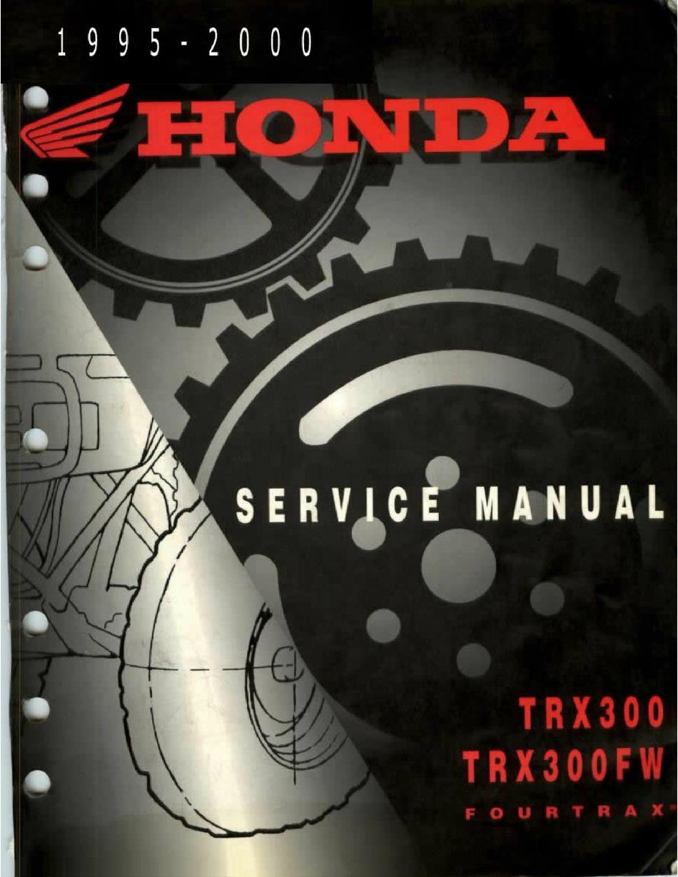 honda fourtrax trx300 service manual pdf download | manualslib  manualslib