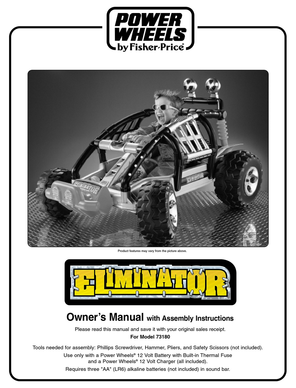 Power Wheels Eliminator 73180 Owner S Manual Pdf Download Manualslib