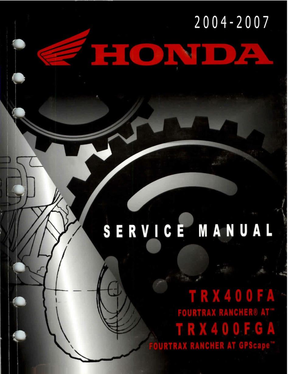 HONDA TRX400FA SERVICE MANUAL Pdf Download | ManualsLib | Trx 400 Wiring Diagram |  | ManualsLib