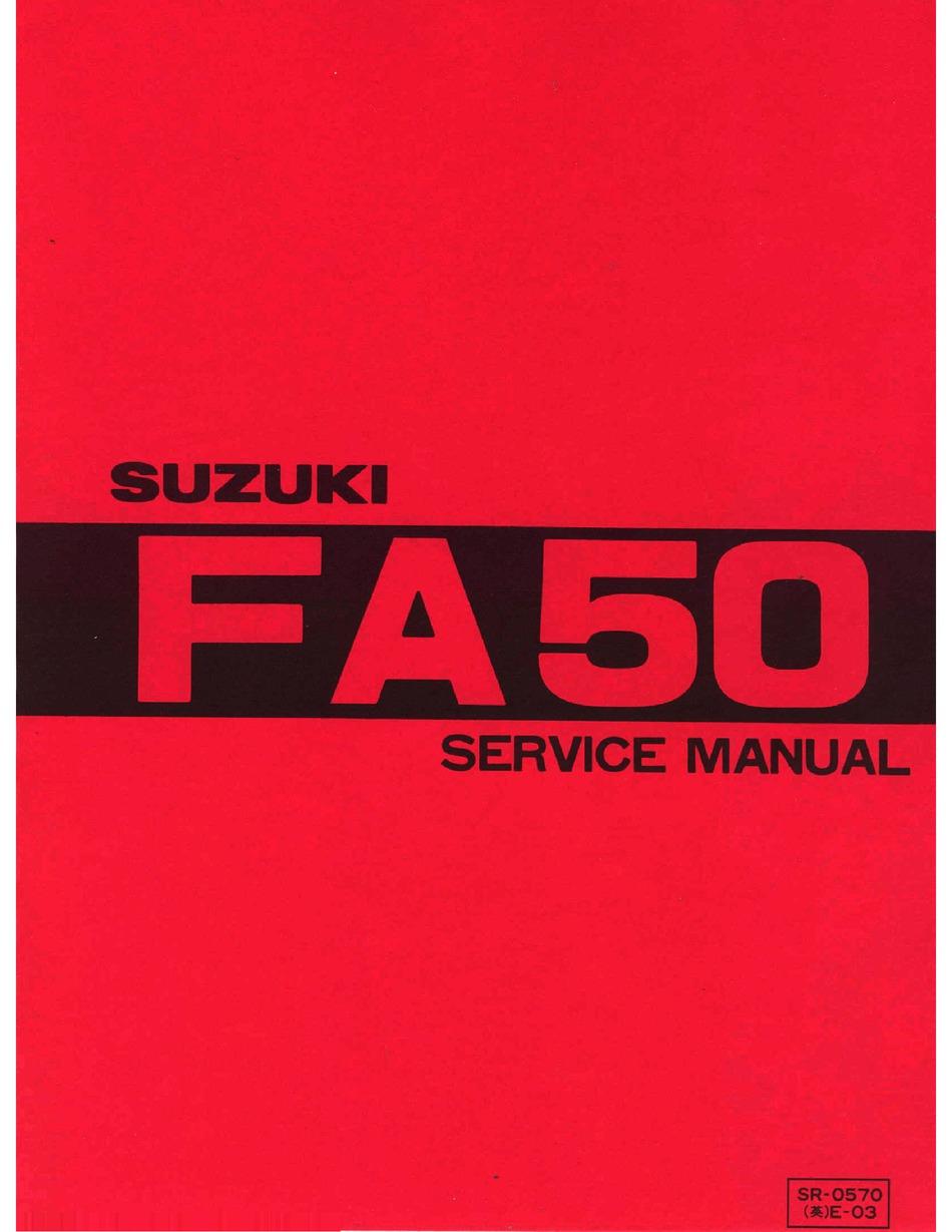 SUZUKI FA50 SERVICE MANUAL Pdf Download | ManualsLib | 1980 Suzuki Fa50 Wiring Diagram |  | ManualsLib