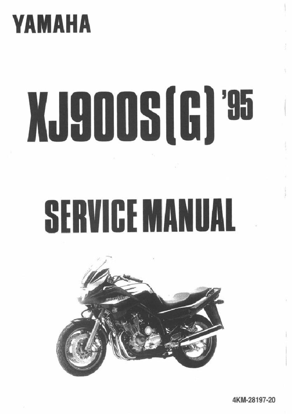 Yamaha 95 Xj900s Service Manual Pdf Download Manualslib