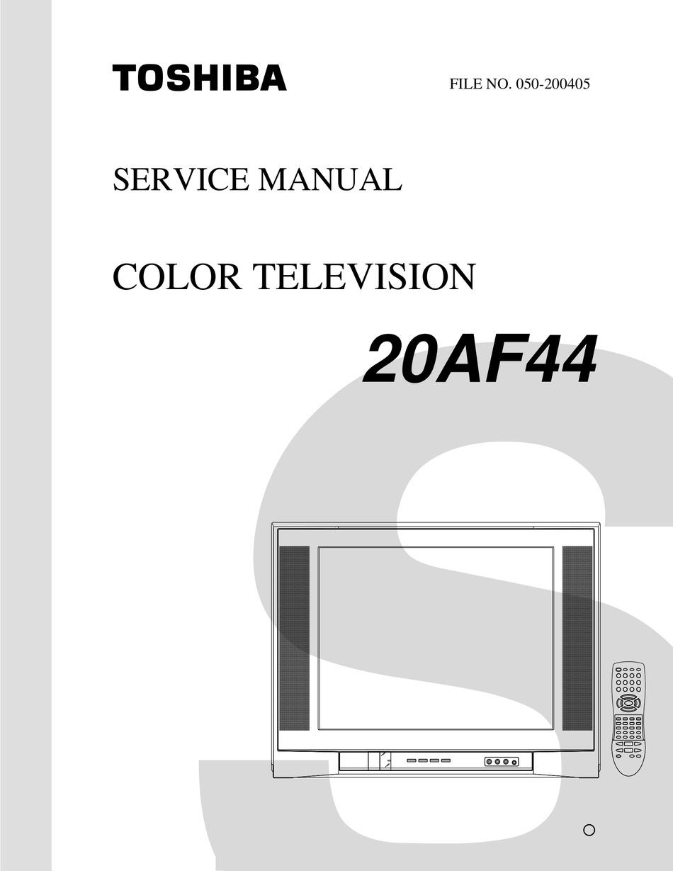 Toshiba 20af44 Service Manual Pdf Download Manualslib