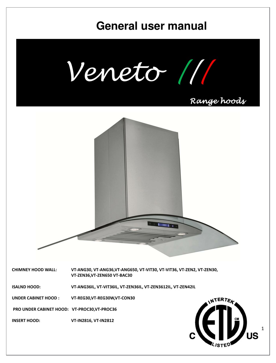 Veneto Vt Ang30 User Manual Pdf Download Manualslib