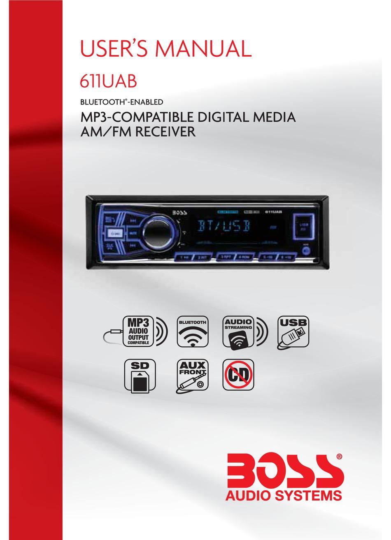 BOSS AUDIO SYSTEMS 611UAB USER MANUAL Pdf Download | ManualsLibManualsLib