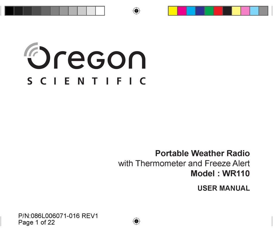 Oregon Scientific Wr110 User Manual Pdf Download Manualslib