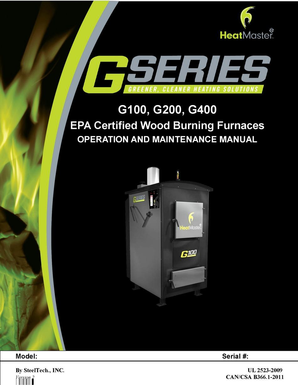 Heatmaster G100 Operation And Maintenance Manual Pdf Download Manualslib