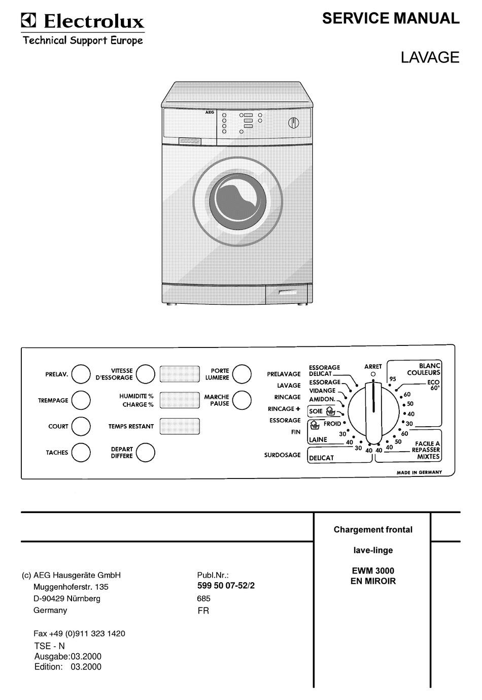 Aeg Lavage Service Manual Pdf Download Manualslib