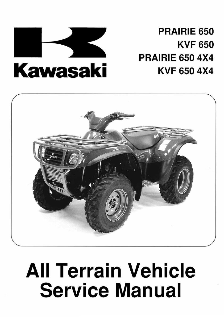 Kawasaki Prairie 650 Service Manual Pdf Download Manualslib