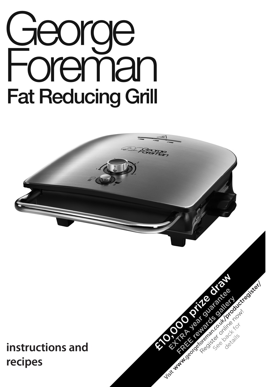 George Foreman 22160 Instructions And Recipes Manual Pdf Download Manualslib