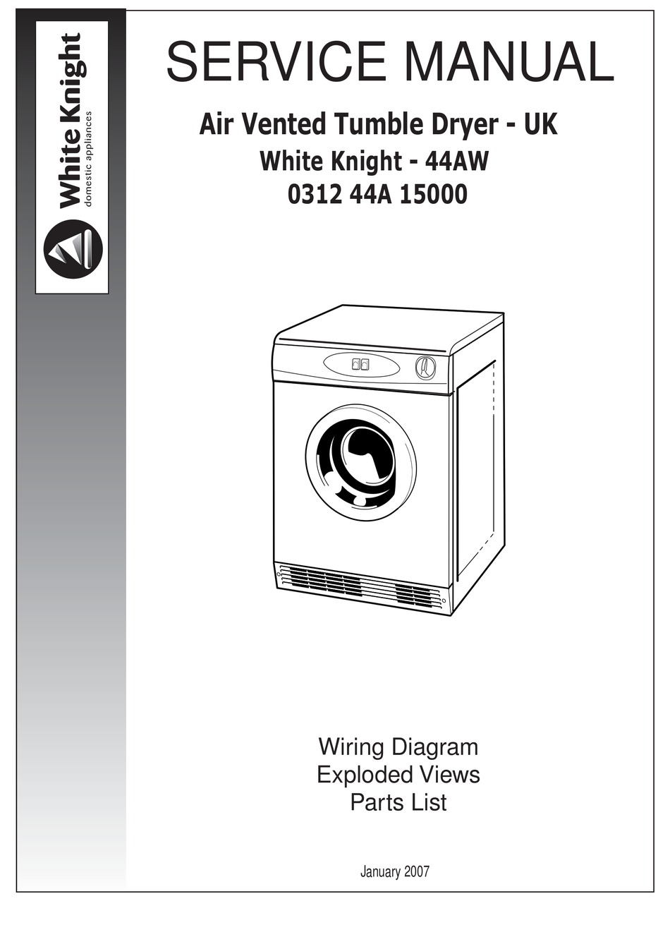 WHITE KNIGHT 44AW SERVICE MANUAL Pdf Download | ManualsLib | White Knight Tumble Dryer Wiring Diagram |  | ManualsLib