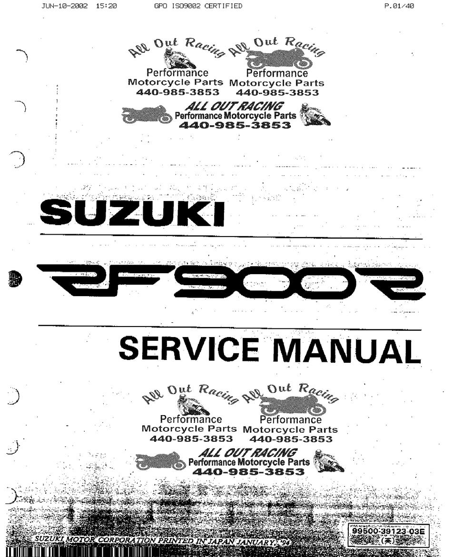 Suzuki Rf 900 R Service Manual Pdf Download Manualslib