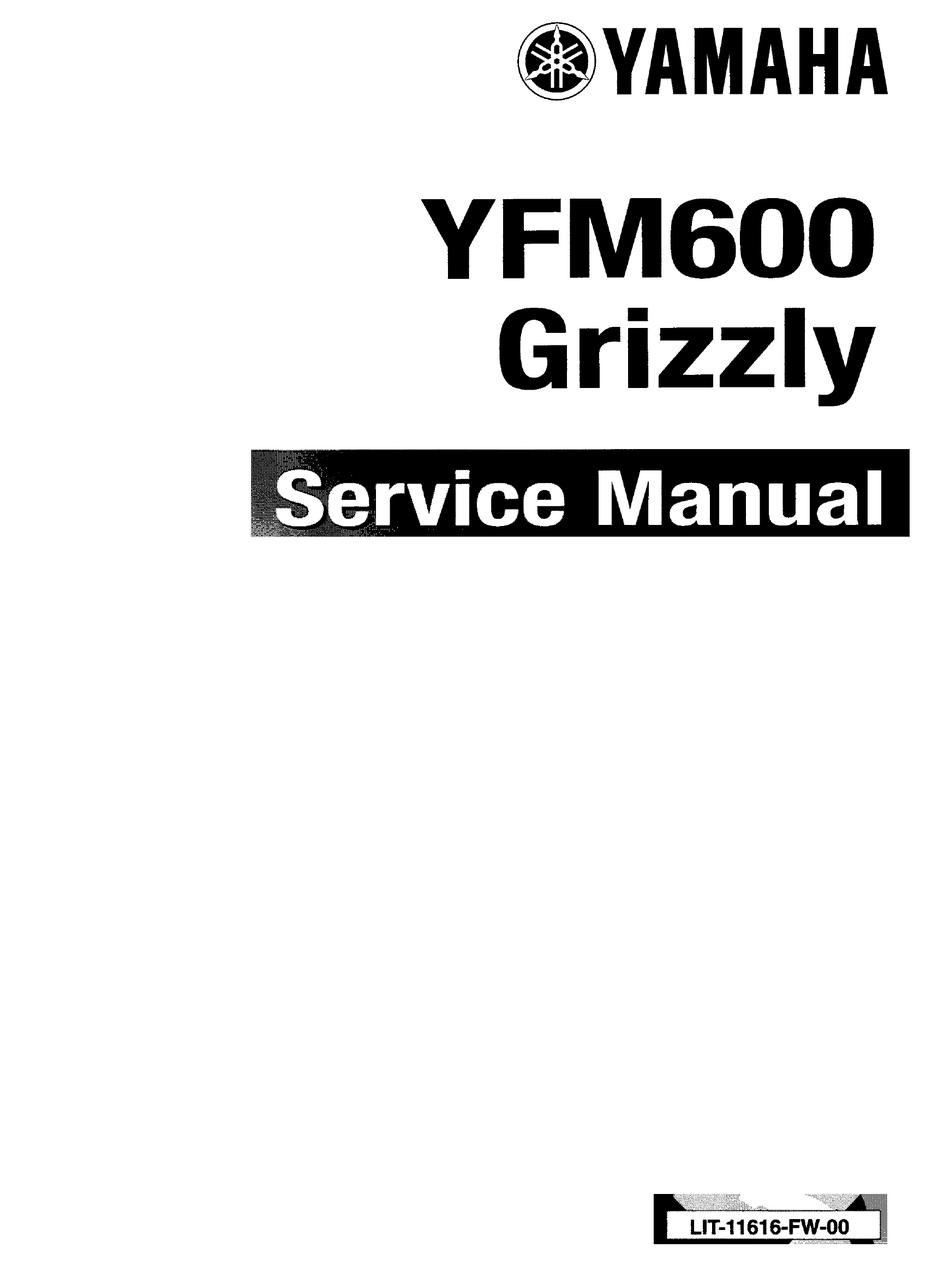 Yamaha Efm600 Grizzly Service Manual Pdf Download Manualslib