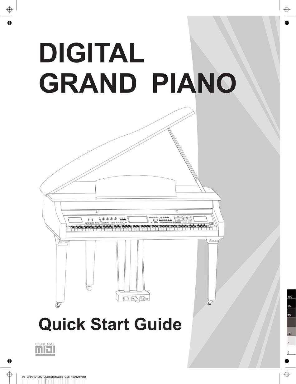 Medeli Grand 1000 Quick Start Manual Pdf Download Manualslib