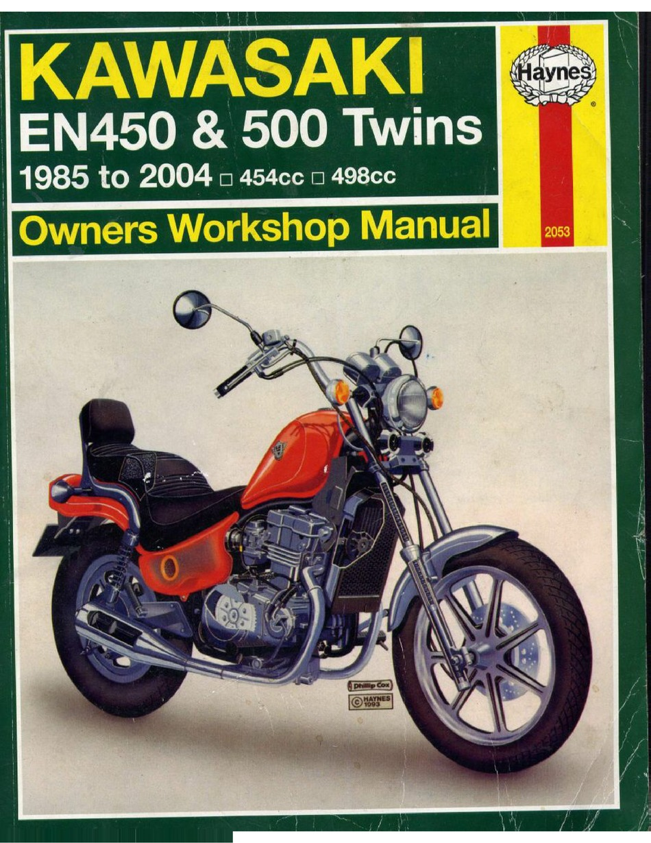 Kawasaki En450 Twins Workshop Manual Pdf Download Manualslib