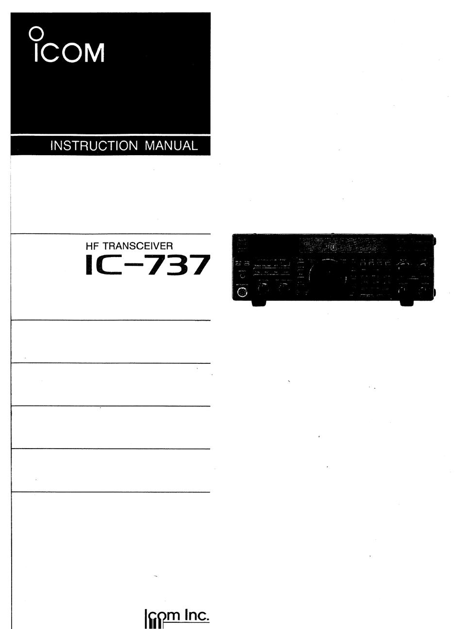 Icom Ic 737 Instruction Manual Pdf Download Manualslib