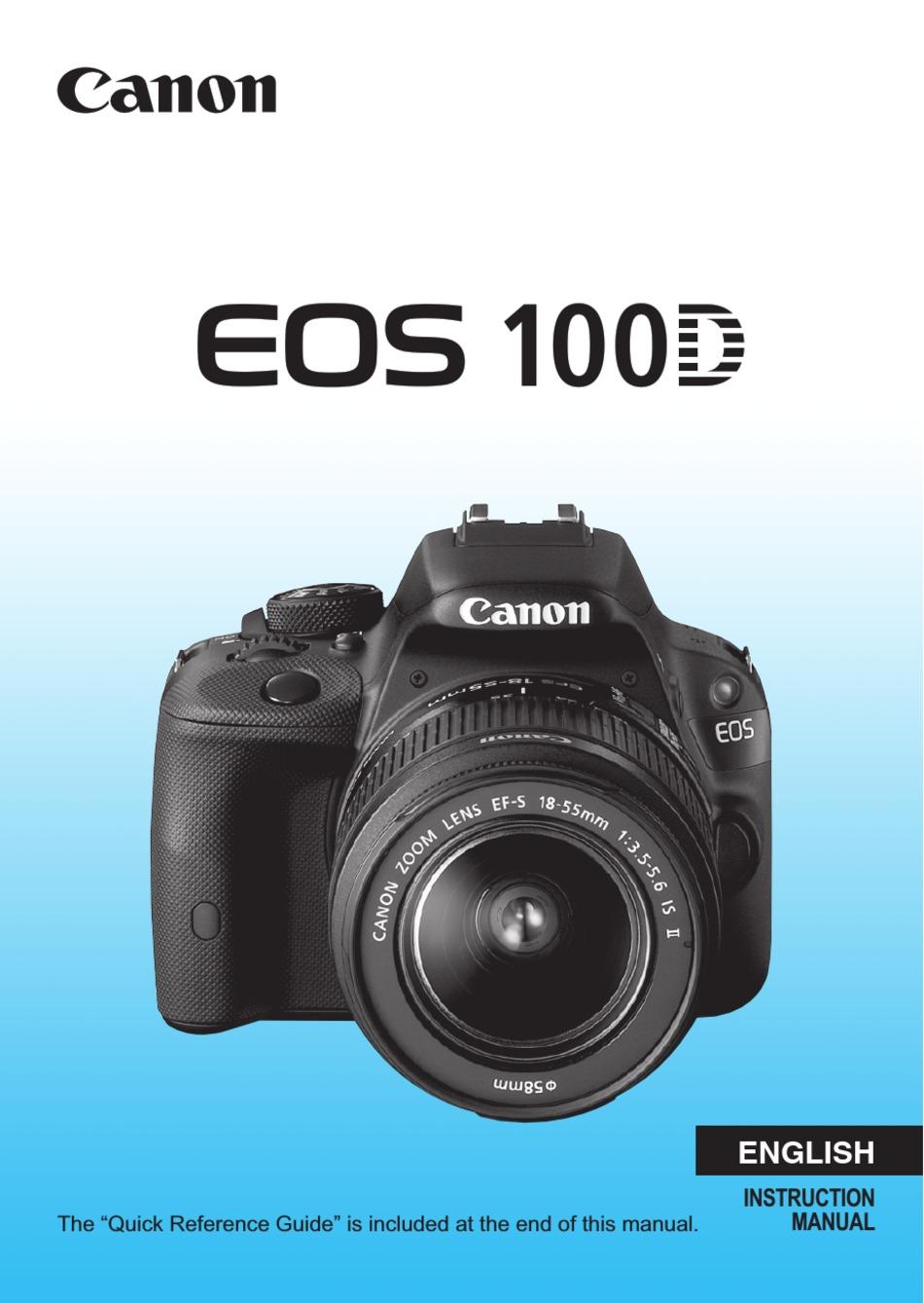 ~ Imprimé ~ CANON EOS 100D guide de l/'utilisateur Manuel d/'instruction en couleur A4 ou A5