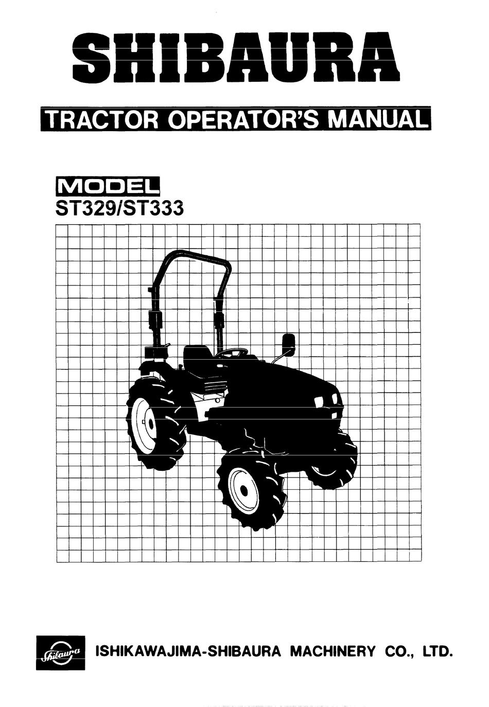 Shibaura St329 Operator S Manual Pdf Download Manualslib