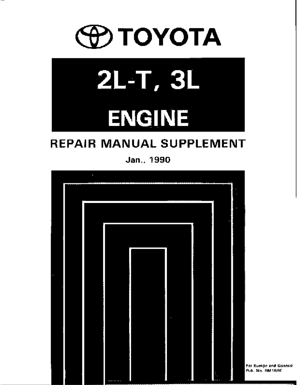 Toyota 2l T Repair Manual Pdf Download Manualslib