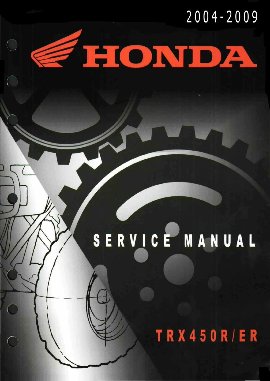 Honda Trx450r Service Manual Pdf Download Manualslib
